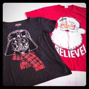 Tops - CHRISTMAS BUNDLE! ~ Santa & Darth Vader